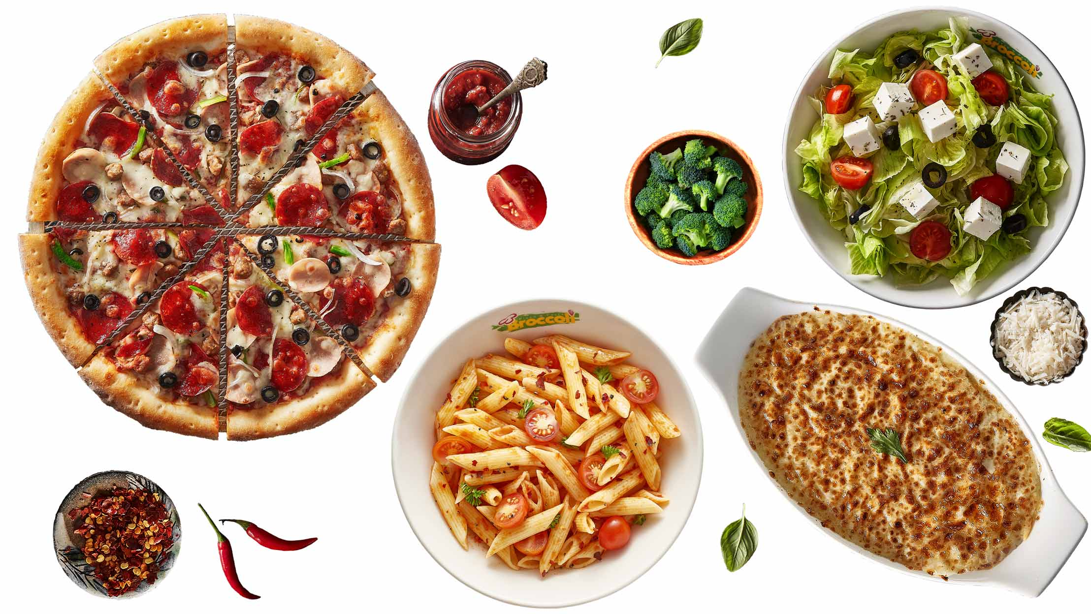 Broccoli Pizza and Pasta Products